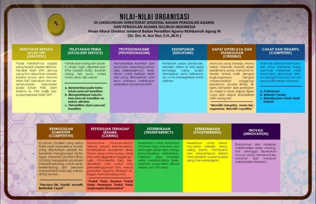 Nilai Nilai Organisasi